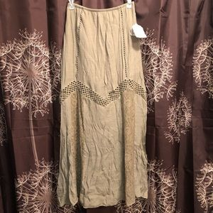 ALTAR'D STATE Olive Green Boho Lace Skirt Small S